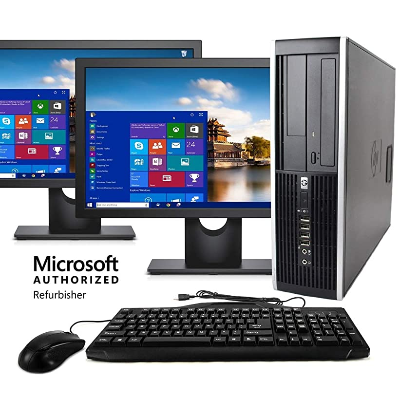 HP Elite Desktop Computer, Intel Core i5 3.2 GHz, 8 GB RAM, 500 GB HDD, Keyboard & Mouse, Wi-Fi, Dual 19