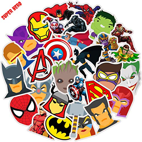 Superhero Comics Stickers for Hydro…