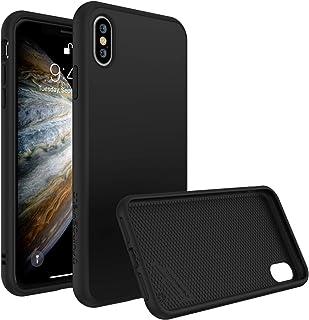 iPhone XS用RhinoShieldケース[SolidSuit]衝撃吸収スリムデザイン保護カバー付きプレミアムマット仕上げ[3.5M / 11ftドロップ保護] - クラシックブラック