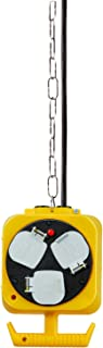 Brennenstuhl 2X 3-Way Hanging Workshop Power Distributor (5 m Cable, Double-Sided Socket, Extension Cord with 3 m Steel Ha...