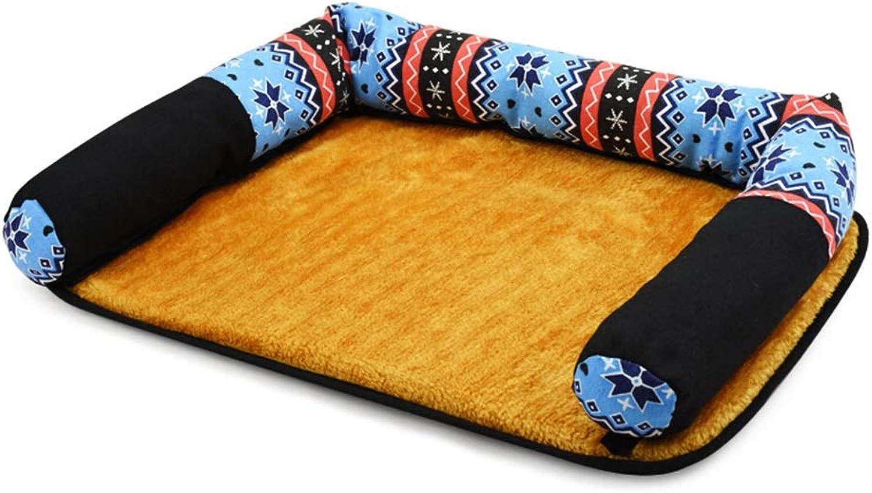 DSADDSD Pet Bed Kennel Cat Litter Mat Pet Nest Pad Four Seasons Available Pet Bed Supplies (color   4 , Size   54CM39CM10CM)