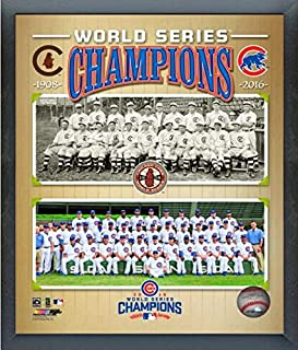 Chicago Cubs 1908 & 2016 World Series Champions Team Photo (Size: 9