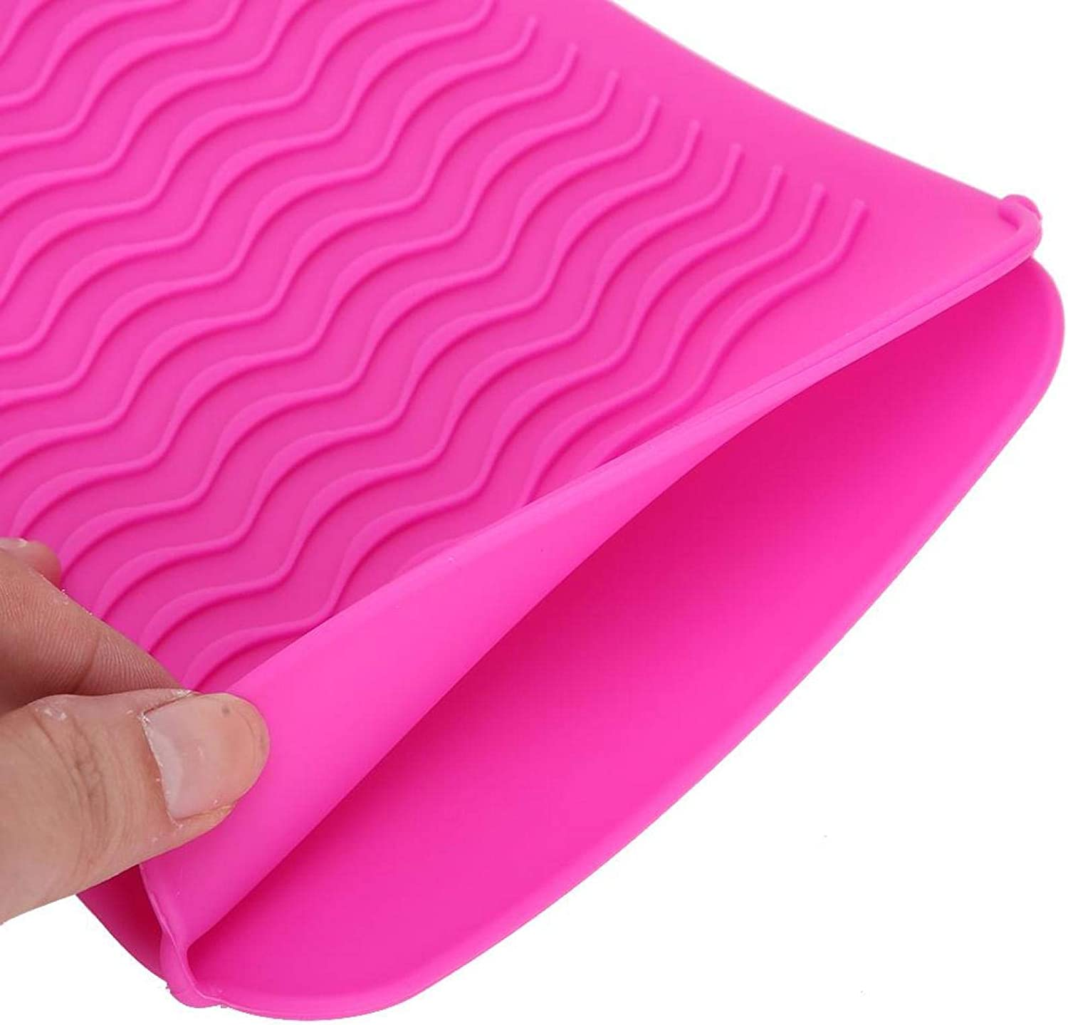 OFFicial mail order Demeras Silicone Mat Regular discount Pouch Durable H Hair for Cover Straightener