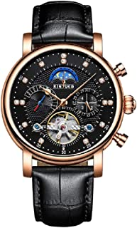Men Automatic Mechanical Watch Luminous Luxury Brand Leather Business Fashion Casual Self-Wind Stainless Steel Sports Watches