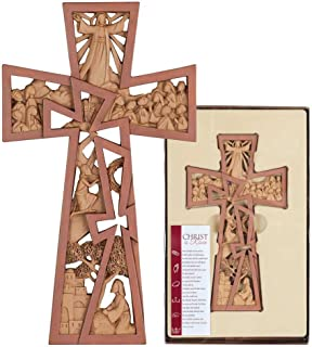 Dicksons Pierced Stages of Christ Easter 11 Inch Resin Stone Wall Cross