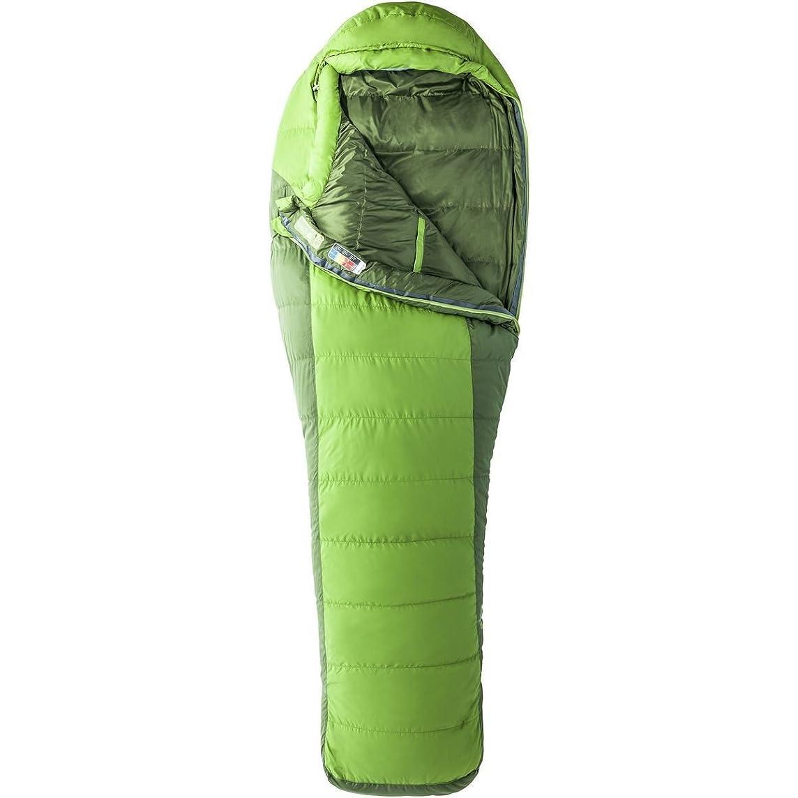 Marmot Never Winter Sleeping Bag: 30-Degree Down Cilantro/Tree Green, Reg/Right Zip