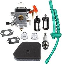 HIPA Carburetor for Stihl FS100 FS100R FS110 FS110R FS110X FS110RX FS100RX FS130 FS130R Trimmer with Air Filter Fuel Line Tune Up Kit