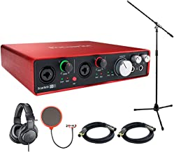Focusrite Scarlett 6i6 USB Audio Interface (2nd Generation) includes Bonus Audio-Technica Professional Monitor Headphones and More