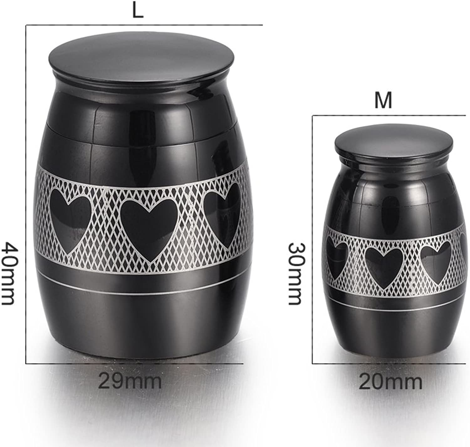 Pet Stainless Steel Mini Memorial Urn Cremation containers for Ashes Keepsake Jewelry Funeral Casket Memorial Urn for Human,4