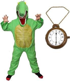 Déguisement de crocodile pour enfant 2 pièces + capuche de crocodile séparée pour la journée mondiale du livre/la semaine ...