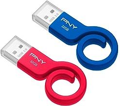 2-Pack PNY Monkey Tail 32GB USB 3.0 Flash Drive (P-FDU32GX2TBMNK-GE)
