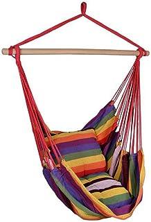 WINOMO ハンモックチェア ロープチェア ハンギング 吊り下げ式 大人&子供兼用 屋外/室内用ロープハンモックチェア