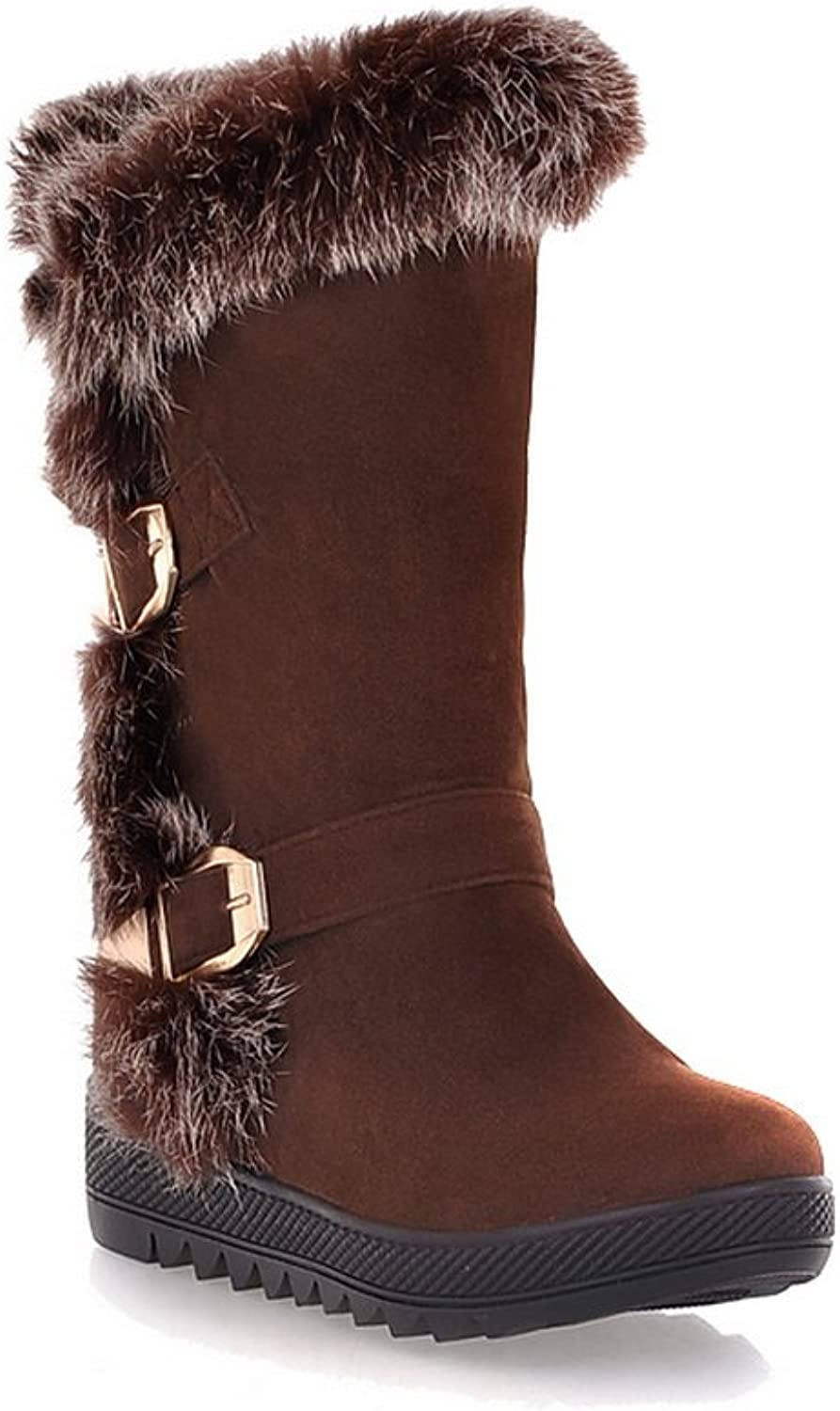 1TO9 Ladies Fur Ornament Buckle Platform Frosted Boots