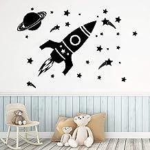 Raket Planeet Muurstickers Kinderkamer Woondecoratie Woonkamer Achtergrond Muurschildering A1 57x38cm