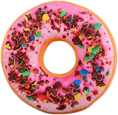 Amazon.com: MOTZU - Almohada redonda con forma de donut ...