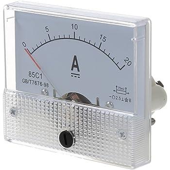 85C1 0-15A DC Amperemetre analogique rectangle SODIAL R