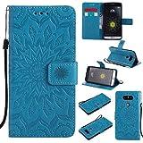 KKEIKO Hülle für LG G5, PU Leder Brieftasche Schutzhülle