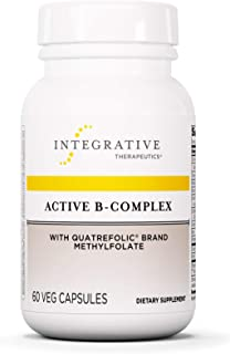 Integrative Therapeutics - Active B-Complex with Folate and Vitamins B1, B2, B3, B5, B6, B7, B12, and Choline Bitartrate for Energy Production - NSF Certified for Sport - Vegan Formula – 60 Capsules