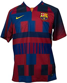 Lionel Messi Signed Jersey - Nike 20th Anniv Medium COA - Autographed Soccer Jerseys