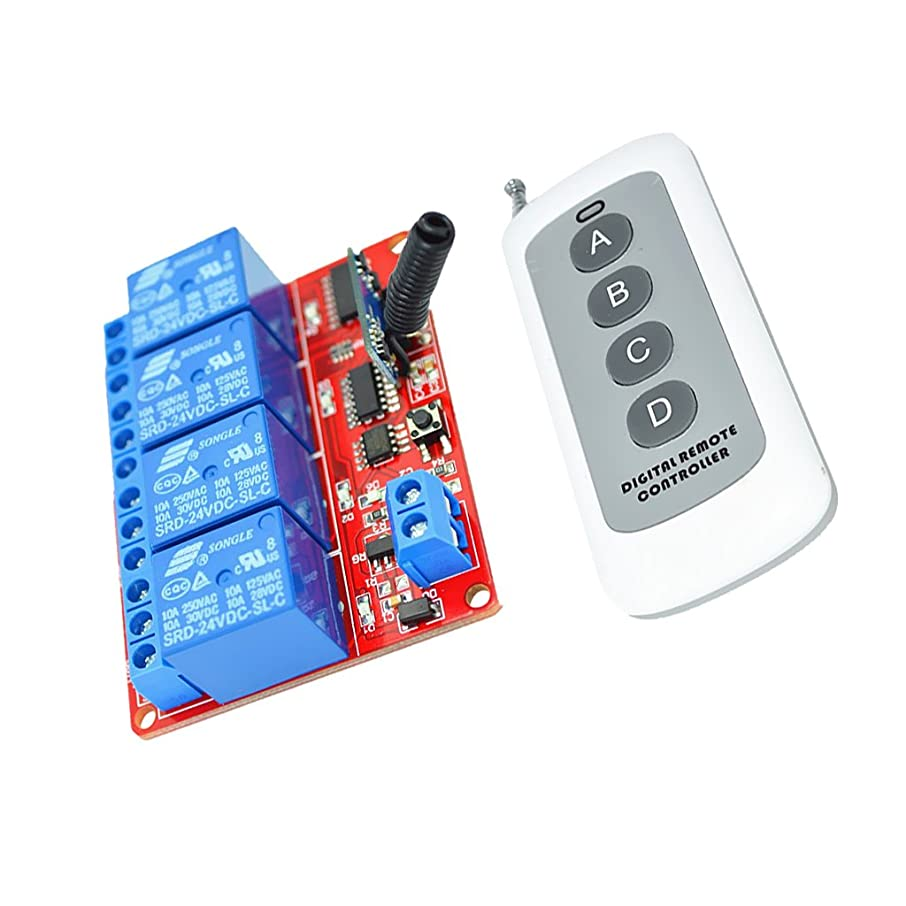 Jili Online 4-Key RF Remote Control For LED Strip Light Door Window Control 24v Relay
