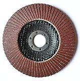 2Compartimiento de St. Set Discos Ø 115mm, Grano P120Muelas abrasivas, Color marrón Flap...