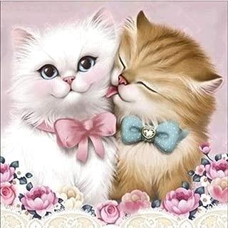 DIY 5D Diamond Painting, Nearzstorn Full Drill DIY 5D Diamond Painting Kits Adorable Cat Design Art Tool Kit Includes All Accessories Cross Stitch Craft Kit Embroidery Rhinestone (Couple cat, 30x30cm)