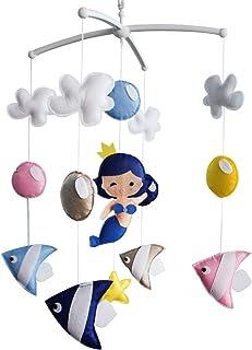 Mobile bébé Mobile Berceau Mobile musical fait main Décoration suspendue colorée Sirène