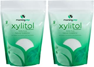 Pack of 2 Morning Pep Pure Birch Xylitol (Keto Diet Friendly) Sweetener with no Aftertaste 2.5 LBs (Not from Corn) Non GMO...