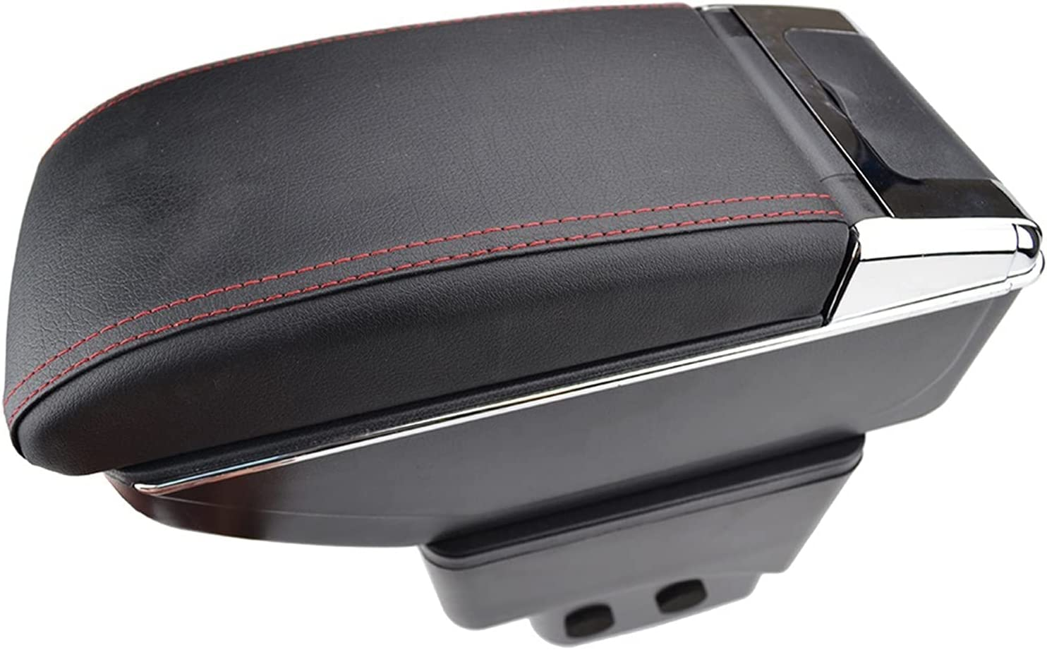 HDBH Storage Box Center Max 84% OFF Console Leather 2013-201 Double-Layer San Francisco Mall PU