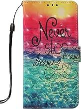 LG K30 Case, LG Premier Pro Case,LG K10 2018 Case,Voanice Wallet Case with Credit Card Slots Holder PU Leather Wrist Strap Kickstand Women Girls Men Folio Flip Cover Protective Magnetic &Stylus-Never