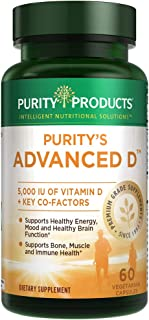 Dr. Cannell's Advanced D - Vitamin D Super Formula - 60 Vegetarian Capsules - Purity Products, Blue