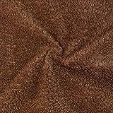 Fabulous Fabrics Fellimitat braun, Uni, 150cm breit –