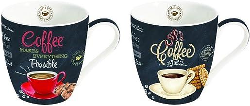 Koffiemokken set van 2 - Italiaans design - perfect cadeau-idee - ideaal voor koffieliefhebbers