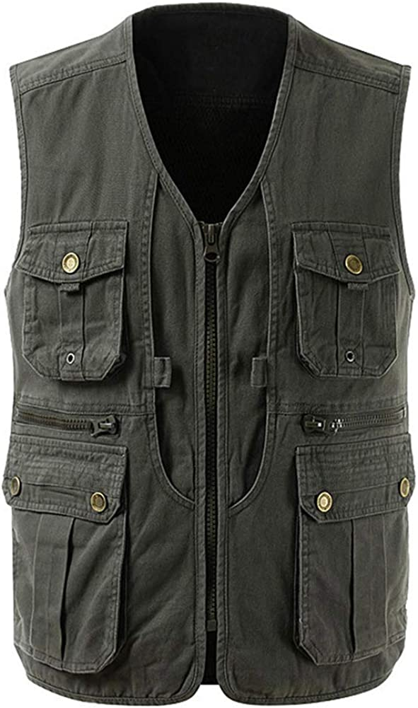 Boyland Mens Mesh Breathable Multi-Pocket Vest Outdoor Travelers Fly Fishing Photography