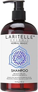 Laritelle Organic Unscented Hypoallergenic Shampoo 17.5 oz. Rosemary & Saw Palmetto. NO SLS/GMO/Parabens. GF