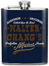 Tremors Walter Changs Market Print Hip Flask Pocket Bottle Flagon 7oz Portable Stainless Steel Flagon