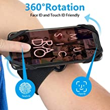 Spider Sports Armband Case for iPhone X 8 7 XS MAX Universal 360 Degree Rotatable Wrist Running Sport Wristband for 4-6 inch Phone Bicycle Holder (Arm&Wrost)