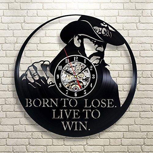 LTOOD Disco de Vinilo Reloj de Pared Reloj de Pared Reloj Creativo Wish Ebay, 12 Pulgadas, Negro