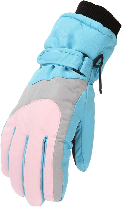 linyma Winter Ski Gloves Waterproof Warm Kids Gloves Full Finger Gloves Sports Cycling 264E