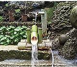 WBJLG Kit de Fuente de bambú Fuente de bambú Japón Jardín Cascada Fuente de Agua al Aire Libre Caño 100% Hecho a Mano Length50cm