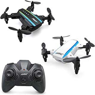 Crazepony JJRC Drone H345 Mini Drone Foldable Drone Quadcopter, 2.4G 4CH 6 Axis Gyro RC Drone JJ1 JJ2 Two in One, Toy Like JJRC H36 Eachine e010