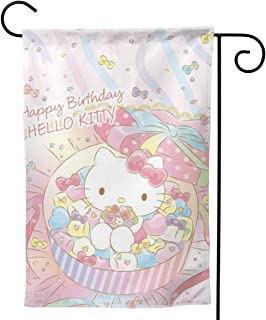LOSJDUU Hellokitty Wallpaper Unique Double Sided Garden Flag Yard Decorations Flag for Outdoor Use Polyester Flags 28
