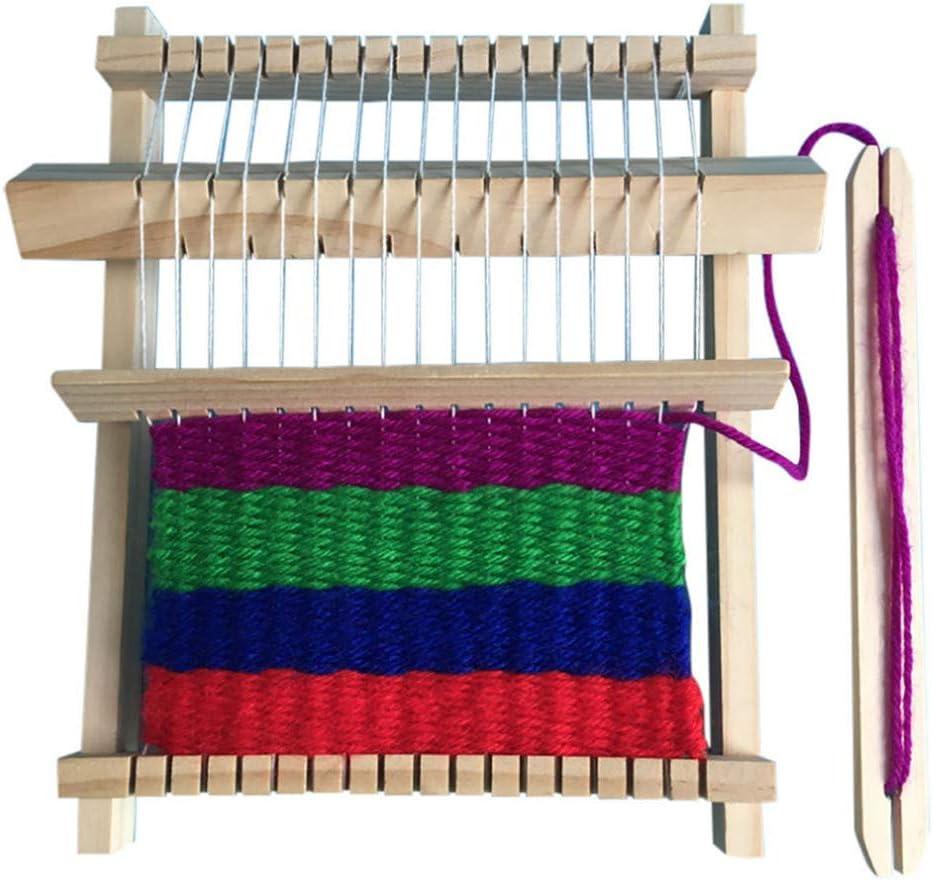 Sale price WOPODI Wooden Handcraft Over item handling ☆ Projects Weaving for Kit Kids Begi Loom
