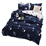 CHAOSE Funda nórdica Ropa de Cama Star Wars Space Moon Series Three Sets(220×240- Cama de 150CM/160 CM)