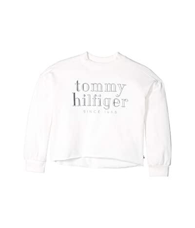 Tommy Hilfiger Kids 1985 Mock Neck Top (Big Kids) (Snow White) Girl