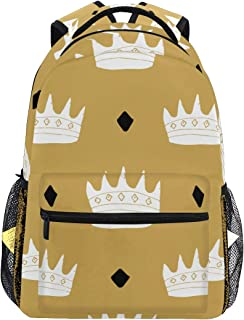 LONSANT Crown Seamless Pattern Hand Drawn Royal Bags