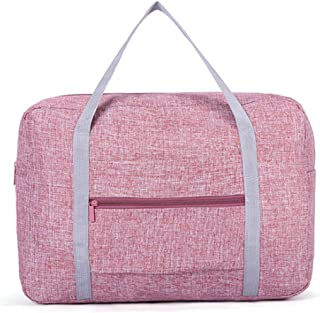 Leorealko Foldable Travel Bag Travel Luggage Portable Folding Travel Storage Bag Waterproof Large Capacity Luggage Packing Tote Bag Men Women