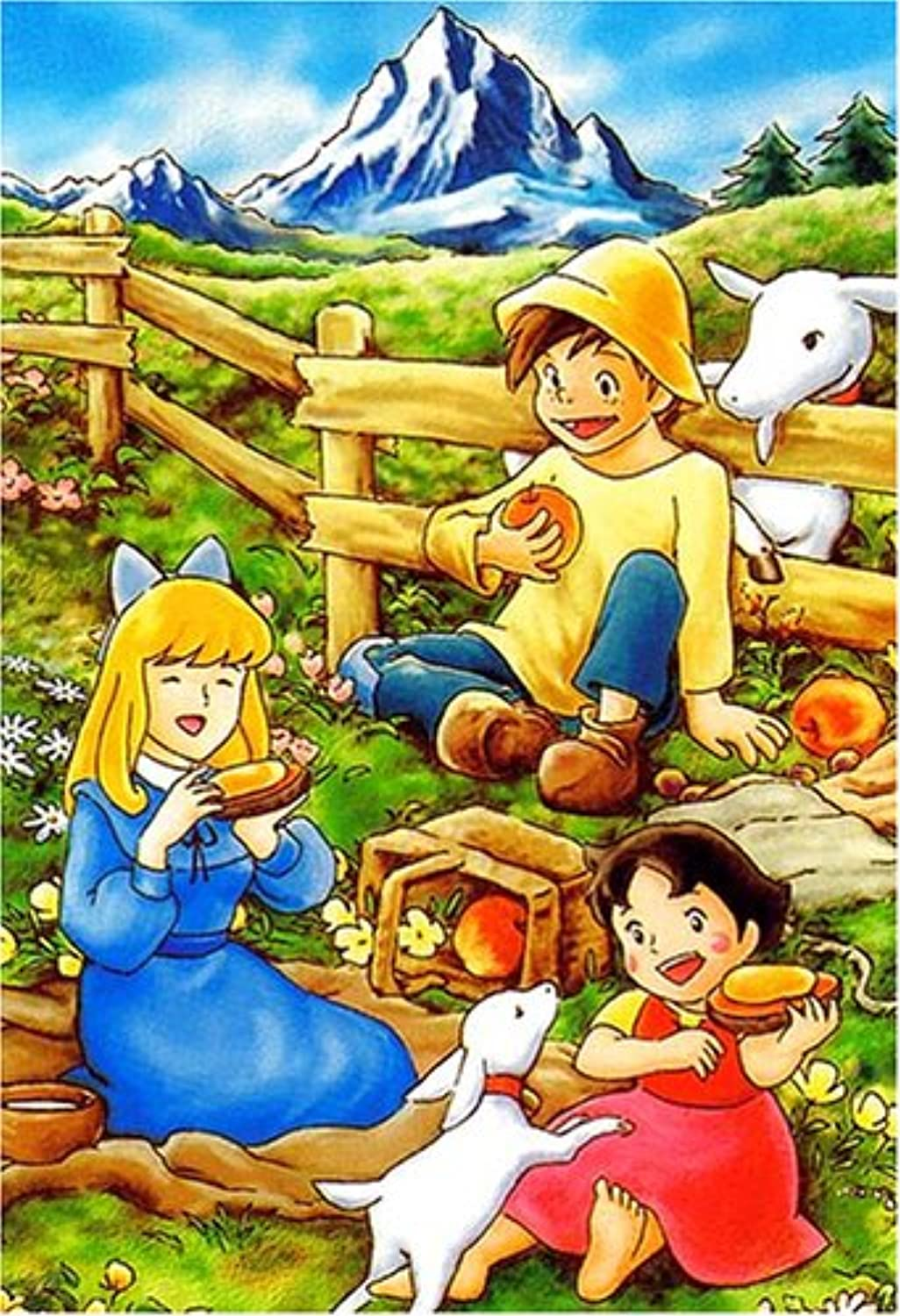 Girl of the Alps Heidi Picnic of the 3 Friends Jigsaw Puzzle 300pcs (26 x 38cm) JAPAN Import