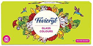 Pidilite Fevicryl Water Based Glass Colours 10 Assorted (115ml)