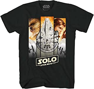 c7cb459c Star Wars Han Solo Story Chewie Movie Poster Adult T-Shirt